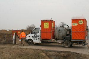 Obsługa i serwis wynajmowanych toalet przenośnych WC SKIP