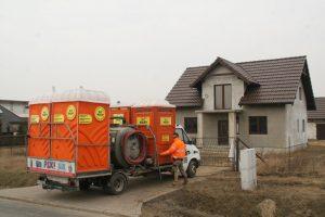 Toalety przenośne - wynajem na budowę domu